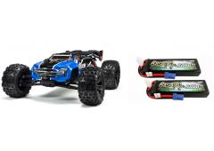 Arrma 1/8 KRATON 6S BLX 4WD Brushless Speed Monster Truck RTR, Blue (ARA106040T2) met Powerpack
