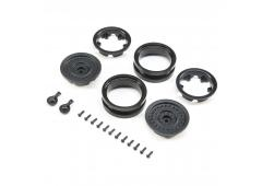 1.9 MW19 Beadlock Wheels - Black (2pcs) (AXI31629)