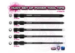 H190070 Set Of Power Tool Tips 2.0, 2.5, 3.00mm + 4.0, 5.8