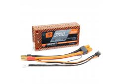 3700mAh 7.4V 2S 100C Smart LiPo Battery, Hardcase 5mm Tubes (SPMX37002S100HT)
