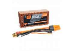 6300mAh 7.6V 2S 100C Smart LiPo Battery, Hardcase 5mm Tubes (SPMX63002S100HT)
