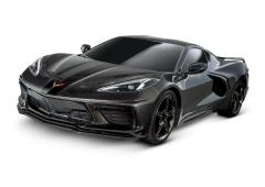 Chevrolet Corvette Stingray Zwart: 1/10 schaal AWD Supercar met TQ 2,4 GHz radiosysteem